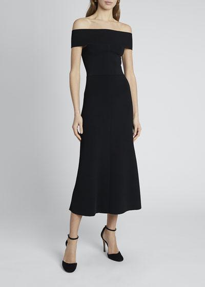 Bardot Crepe Midi Dress