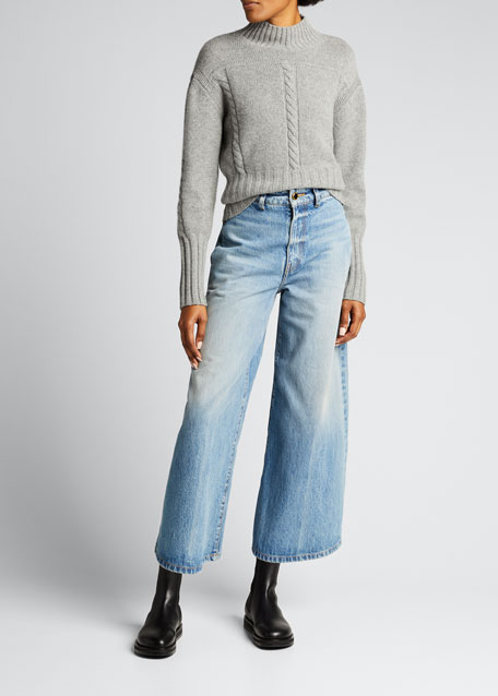 Image 1 of 1: Maude Ribbed Cashmere Sweater