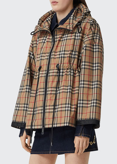 Bacton Check Hooded Jacket