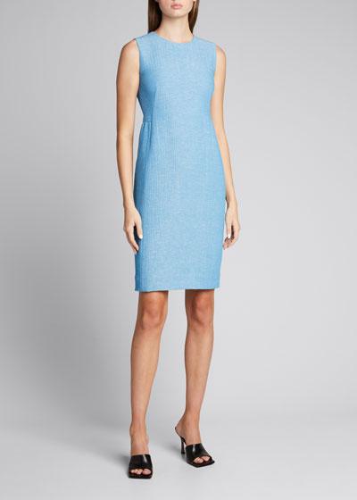 Wool-Blend Sleeveless Sheath Dress
