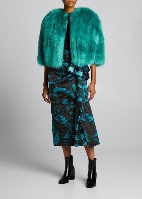 Image 1 of 1: Faux-Fur Cropped Jacket
