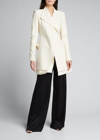Layered Wool-Blend Blazer Dress