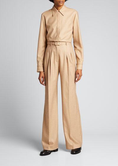 Cruz Wool-Cashmere Shirt