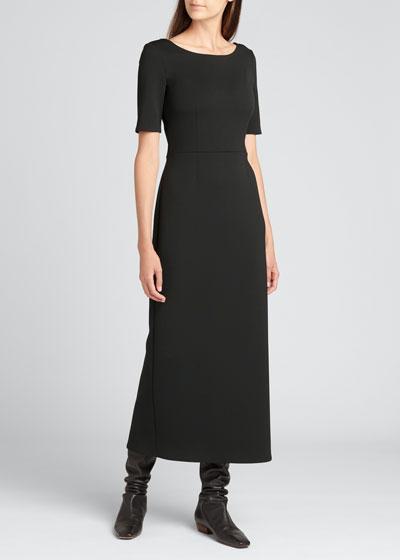 Belia Crepe A-Line Midi Dress