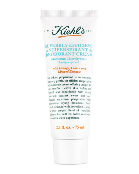 Superbly Efficient Anti-Perspirant & Deodorant Cream, 2.5 fl.
