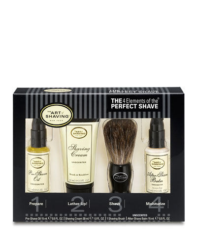 4 Elements of the Perfect Shave Starter Kit, Unscented