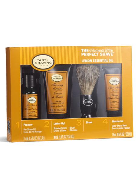 4 Elements of the Perfect Shave Starter Kit, Lemon