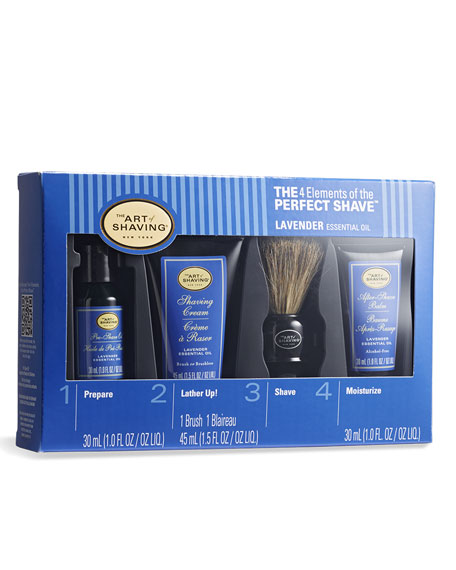 4 Elements of the Perfect Shave Mid-Size Kit, Lavender