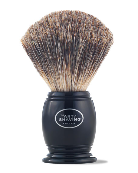 THE ART OF SHAVING 100% Pure Badger Shaving Brush in Black