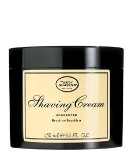 Brush or Brushless Shaving Cream, Unscented
