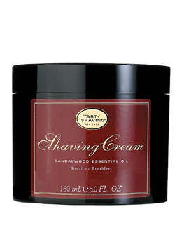 Brush or Brushless Shaving Cream, Sandalwood