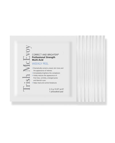 CORRECT AND BRIGHTEN Professional Strength Multi-Acid Weekly Peel  12ct