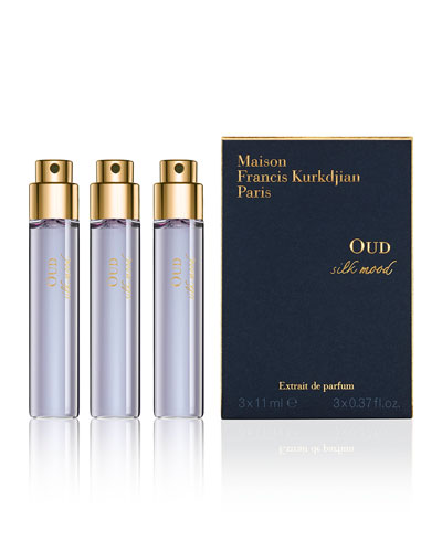 OUD silk mood Eau de Parfum Travel Spray Refills, 3 x 0.37 oz./ 11 mL