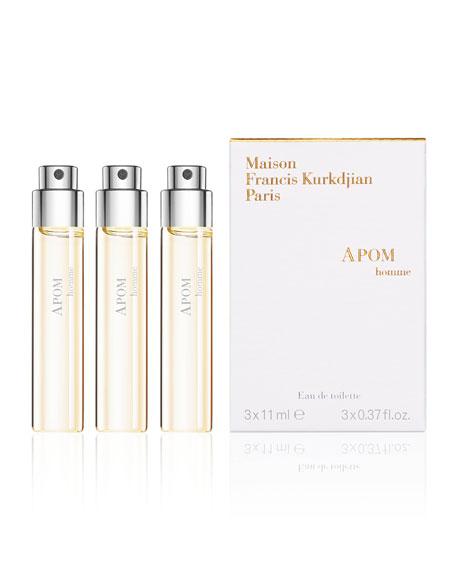 APOM homme Eau de Toilette Spray Refills, 3 x 0.37 oz./ 12 mL