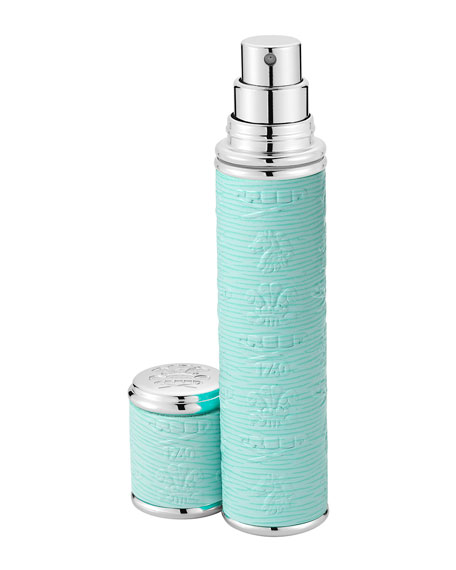 Creed Pocket Atomizer in Turquoise Leather with Silver