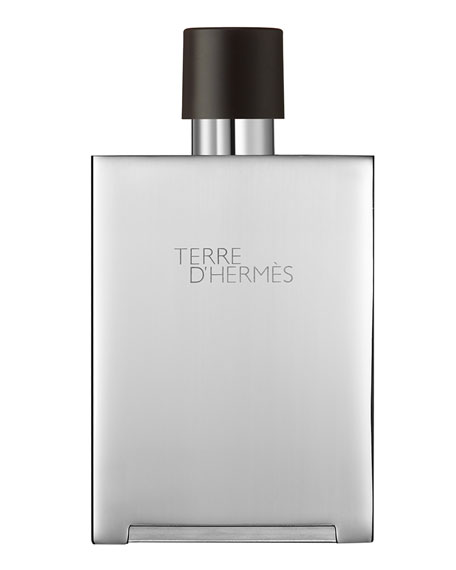 Terre d'Hermès Pure Perfume Bel Objet Metal Refillable Spray, 5 oz.