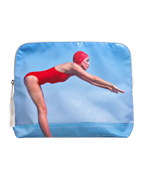 Limited Edition Jerry Hall 'Bathing Beauty' Makeup Bag - Charlotte Tilbury x Norman Parkinson Collection