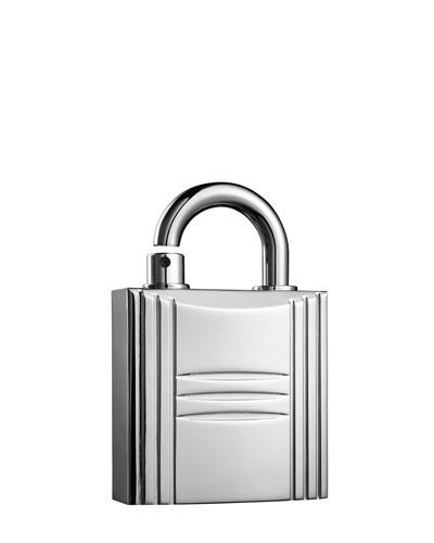 Refillable Lock Spray, Silver Tone