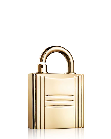 Hermès Refillable Lock Spray, Gold Tone