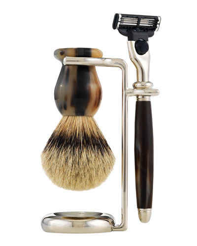 Classic Shaving Razor and Brush Stand