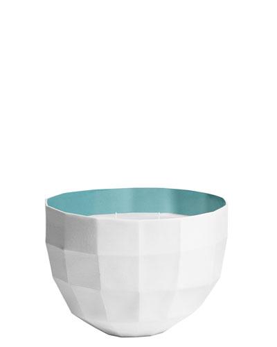 Rêverie Fenêtre ouverte, Perfumed candle bowl, Lagoon colour, large model, 1100g