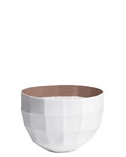 Rêverie Des pas sur la neige, Perfumed candle bowl, Taupe colour, large model, 1100g
