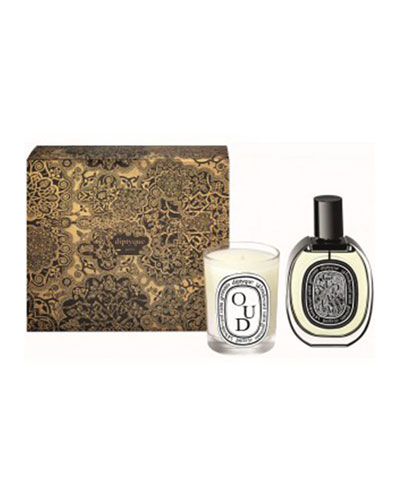 Oud Scented Candle and Eau de Parfum Gift Set
