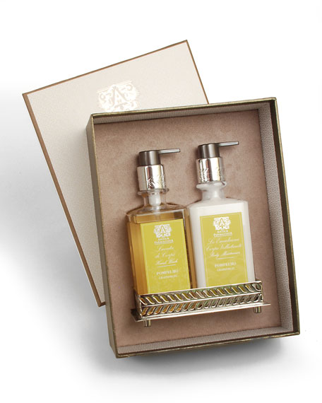 Grapefruit Hand Wash & Moisturizer Gift Set with Tray