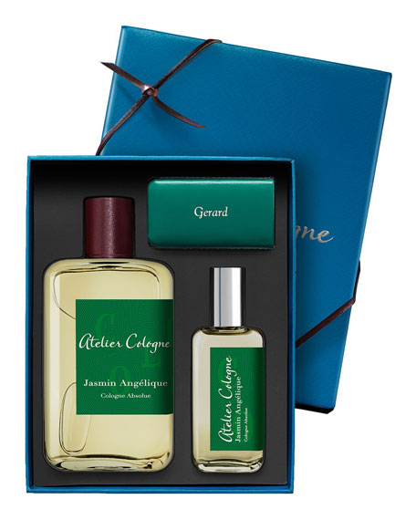 Jasmine Angelique Cologne Absolue, 200 mL with Personalized Travel Spray, 30 mL