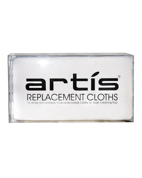 Artis Microfiber Cleansing Replacement Pads, White, 10 pack