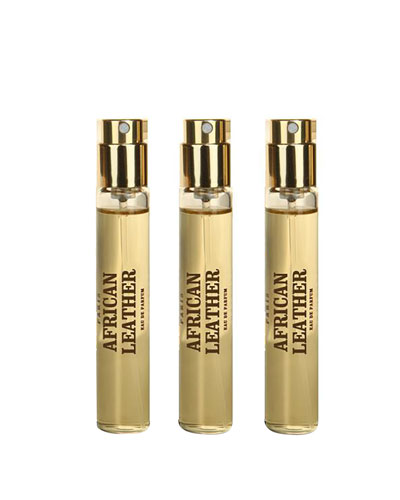 African Leather Travel Spray Refill, 3 x 10 mL