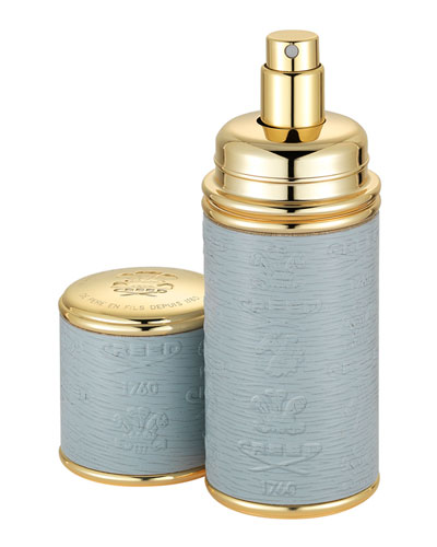 Logo Etched Leather Atomizer  Gold/Gray