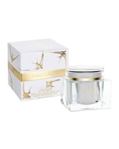 Living Lalique Luxury Cream Jar, 7.0 oz./ 200 mL