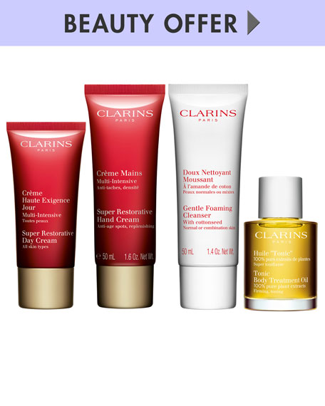 Receive a free -piece bonus gift with your $150 Clarins purchase