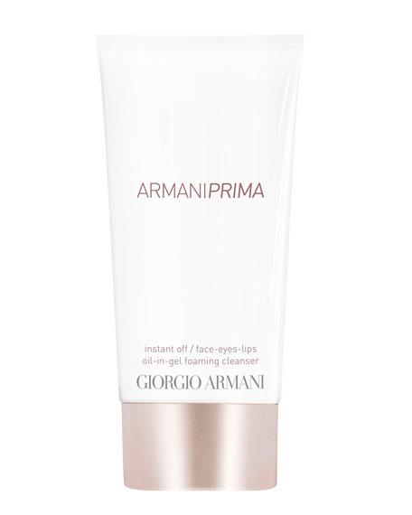 ARMANI PRIMA Oil-in-Gel Foaming Cleanser <br>Instant Off Face & Eyes & Lips