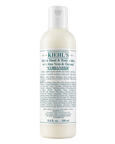 Deluxe Hand and Body Lotion with Aloe Vera and Oatmeal Coriander