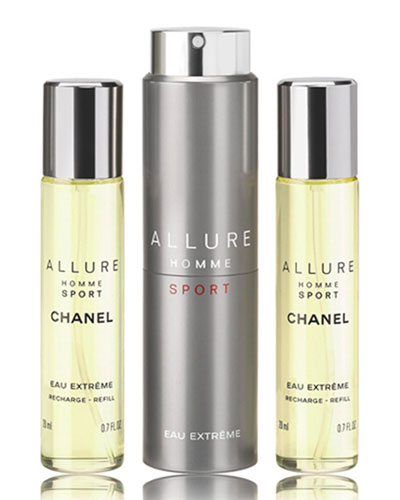 <b>ALLURE HOMME SPORT</b><br> EAU EXTR&#202ME REFILLABLE TRAVEL SPRAY