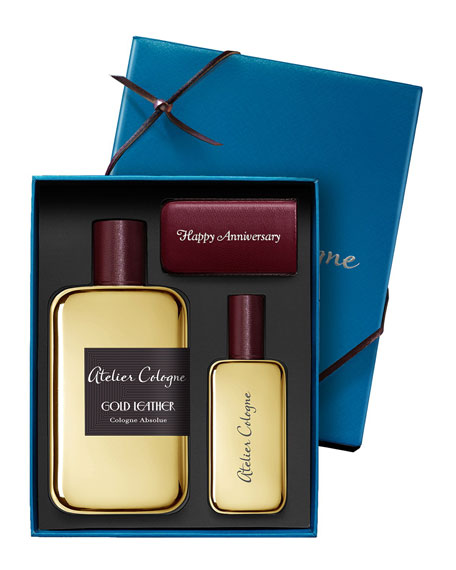 Gold Leather Cologne Absolue, 200 mL with Personalized Travel Spray, 30 mL