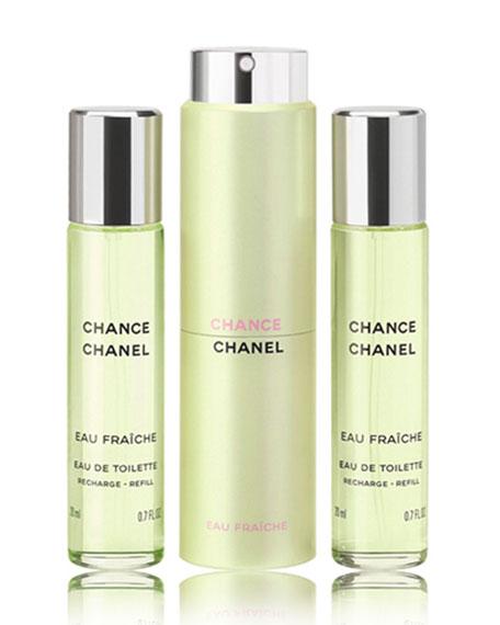 <b>CHANCE EAU FRA&#206CHE</b><br> Eau de Toilette Twist & Spray, 3 x 0.7 oz.