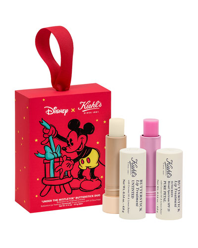 Special Edition Neiman Marcus Exclusive: Disney X Kiehl's Mistletoes Moments Butterstick Lip Treatment Duo
