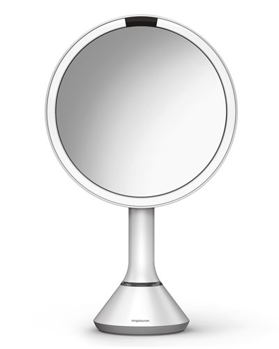 "8"" Sensor Makeup Mirror with Brightness Control  White"