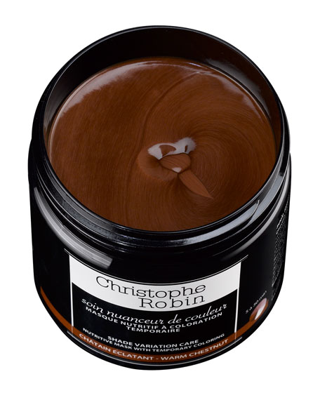 Shade Variation Care Nutritive Mask with Temporary Coloring – Warm Chestnut, 8.4 oz./ 250 mL