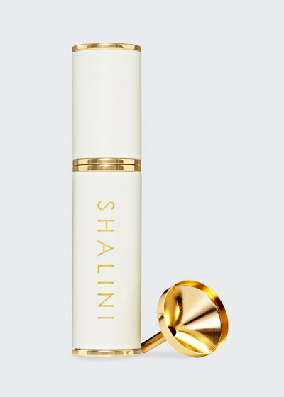 Jardin Nocturne White Lacquer and Gold Plated Travel Spray  0.4 oz./ 12.5 mL