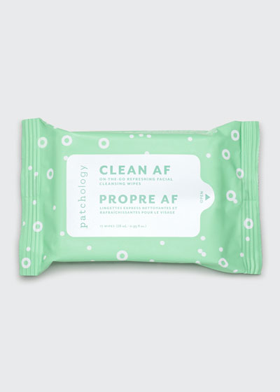 Clean AF Facial Cleansing Wipes, 15 Count