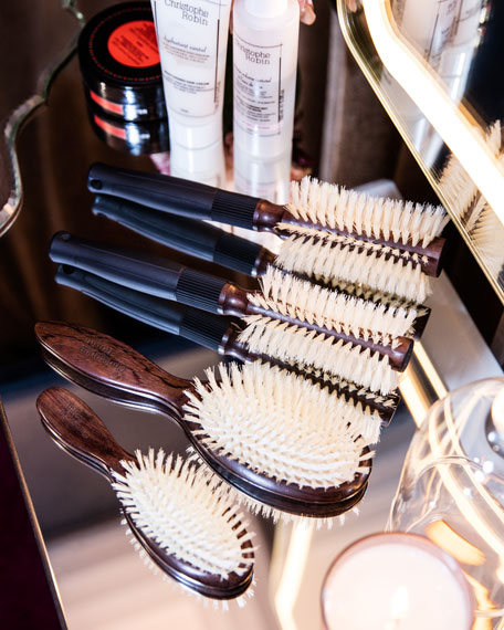Boar Bristle Travel Hairbrush