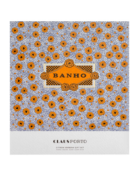 Claus Porto BANHO Hand Cream, Soap and Dish