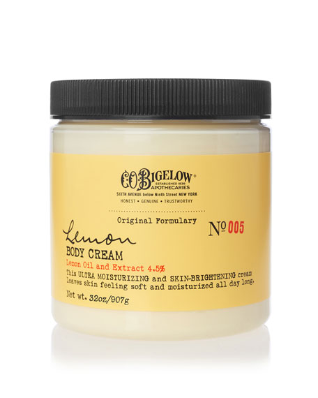 C.O. Bigelow Lemon Body Cream, 32 oz./ 907