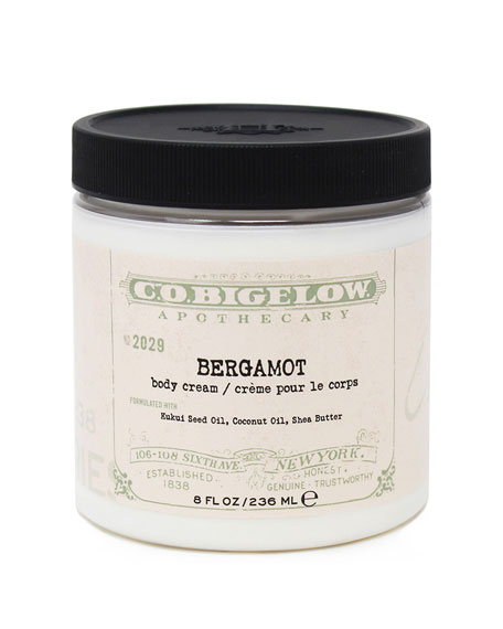 Bergamot Body Cream, 8 oz./ 236 mL