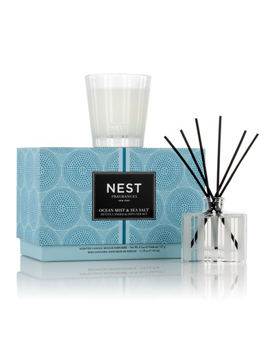 f8648380d9632 Ocean Mist   Sea Salt Petite Candle   Diffuser Set