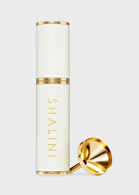 Amorem Rose White Lacquer and Gold Plated Travel Spray, 0.4 oz./ 12.5 mL